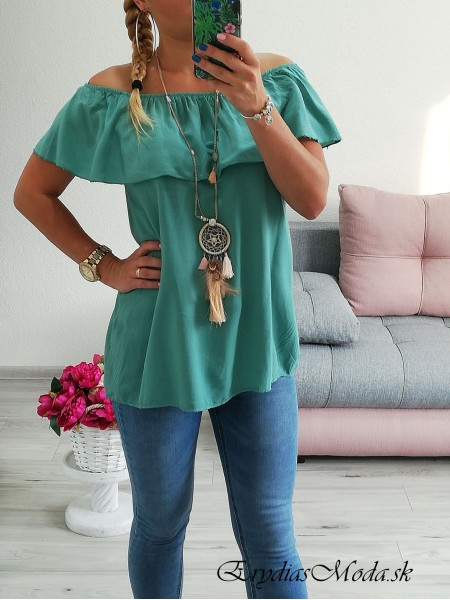 Top s volánom Summer mint 6078