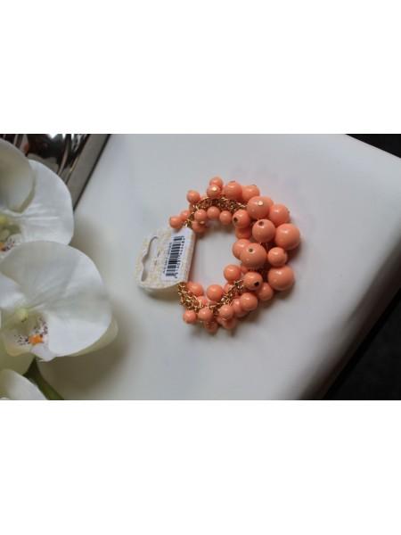 Náramok korálkový marhuľkový