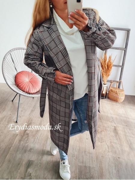 Kabát kockovaný Amalfi 3696