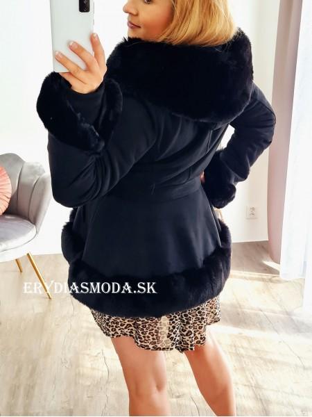 Čierny kabátik Lolita F521