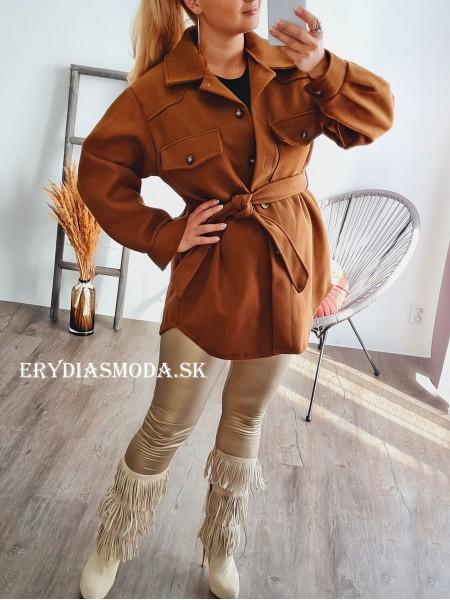 Kabát Sofia hnedý 2939