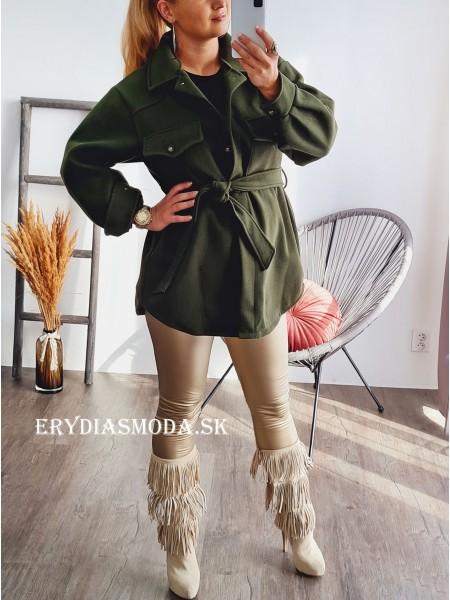 Kabát Sofia zelený 2939