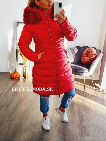 Bunda Luxie červená DK060