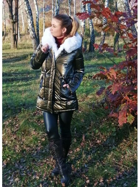 Bunda metalická olivovozelená Stacy TR8209