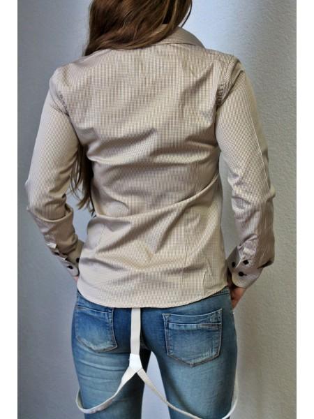 Košeľa kockovaná hnedá 3998