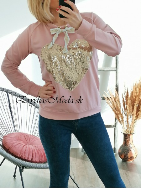 Mikina Heart pink 67455