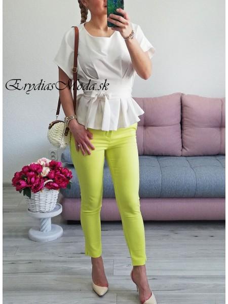 Limetkové nohavice H8707