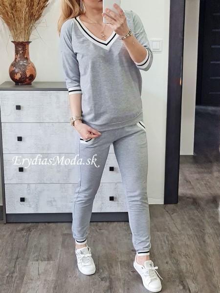 Tepláková súprava Fashion sivá FH529