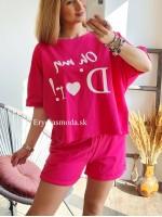 Tepláková súprava Oh my Dior ružová 6220