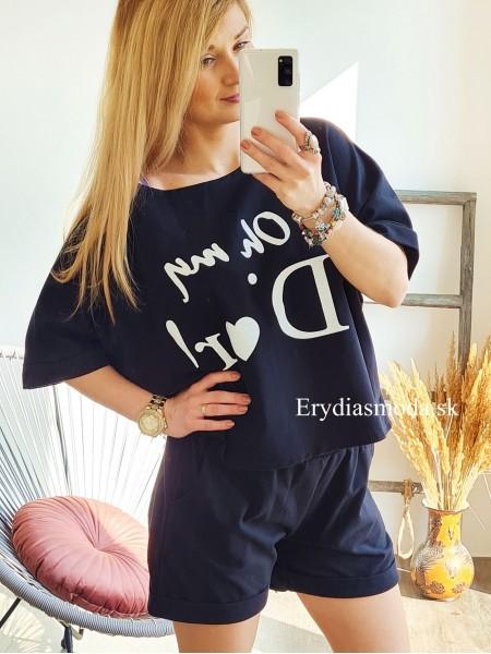 Tepláková súprava Oh my Dior čierna 6220