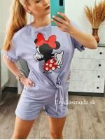 Komplet Mickey fialový D1006