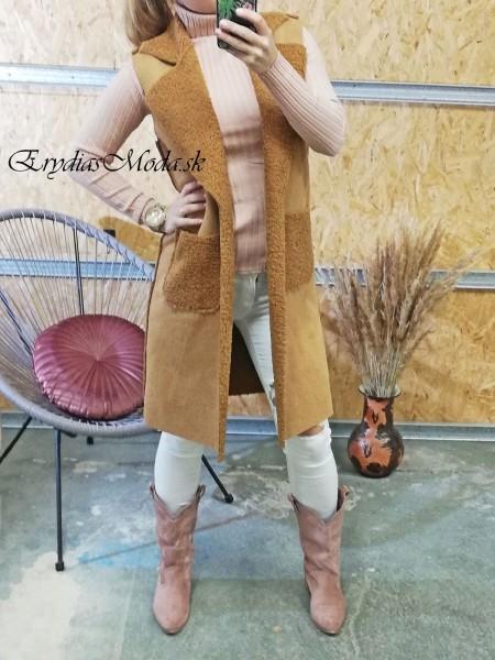 Kožušinová vesta Shelby krémová19701