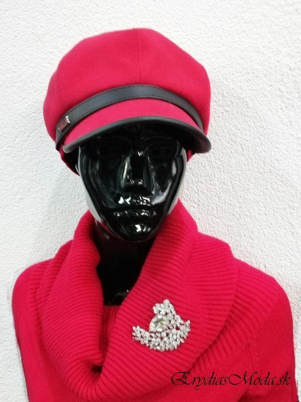 Červená baretka Robin 56