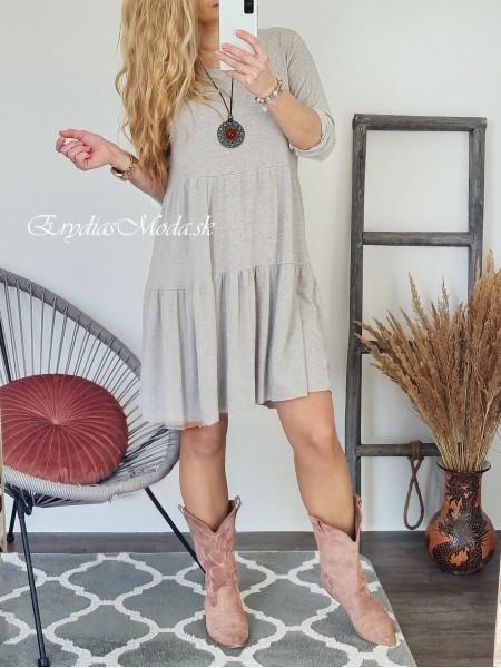 Bavlnené šaty Milagros béžové 20663