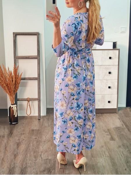 Kvetované šaty Mili lila 19368