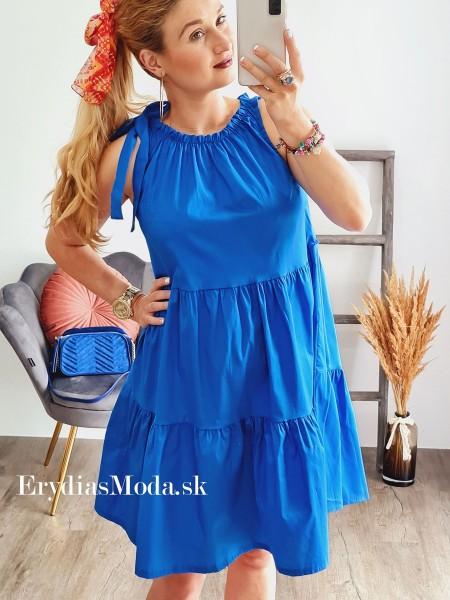 Košeľové šaty Aurora modré 7839