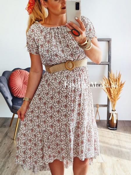 Asymetrické šaty Samba biele 18261