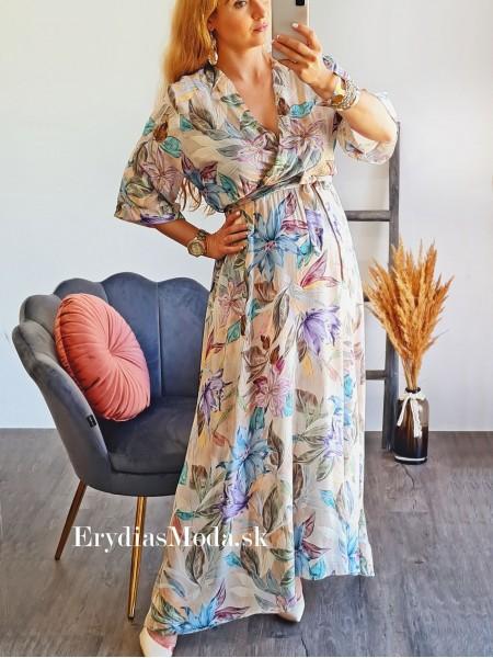 Kvetované maxišaty Donna U316