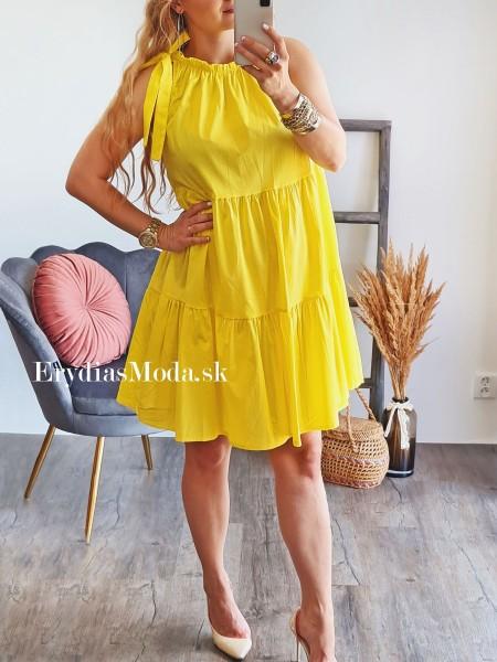 Košeľové šaty Aurora žlté 7839