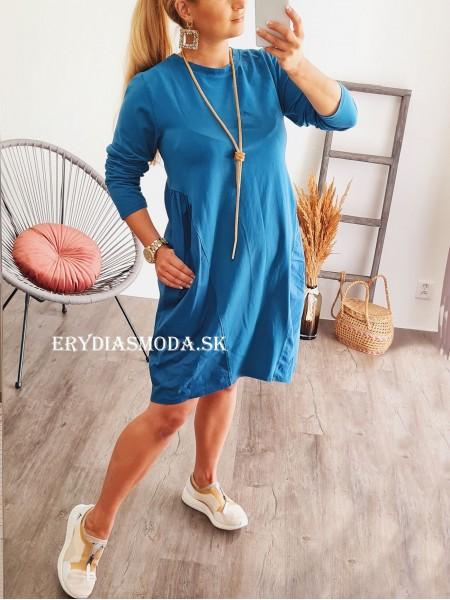 Šaty Bella modré 8098