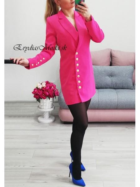 Sako / sakové šaty Picasso ružové 21780