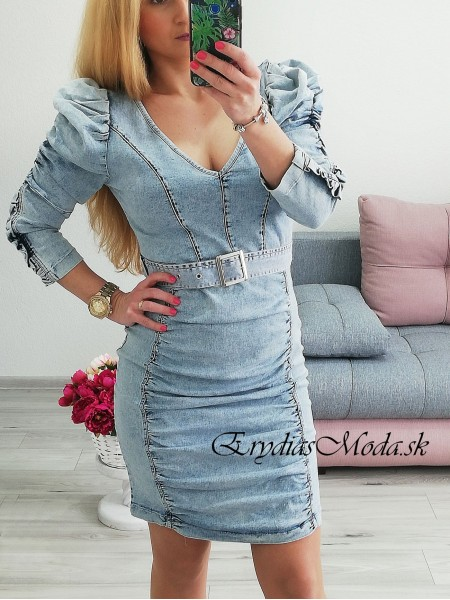 Rifľové šaty Selin 5702