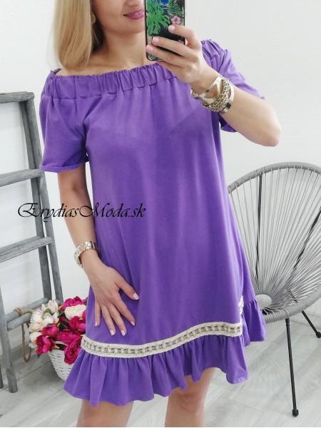 Fialové šaty Balda I 4201