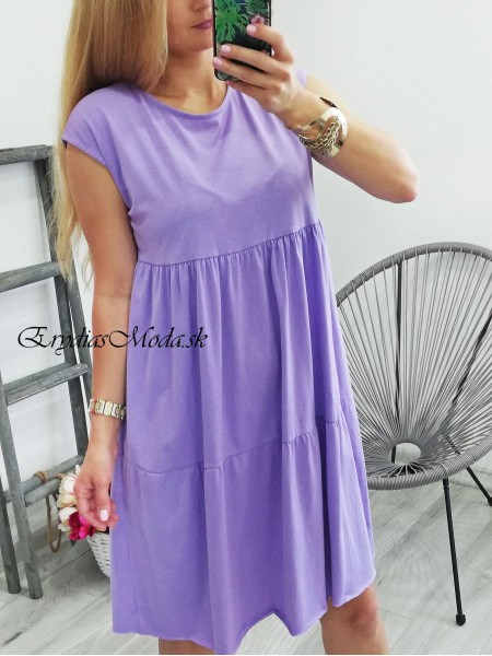 Letné šaty Mauritius fialové MS901