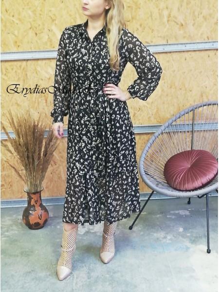Čierne košeľové maxišaty Tiffany 22923