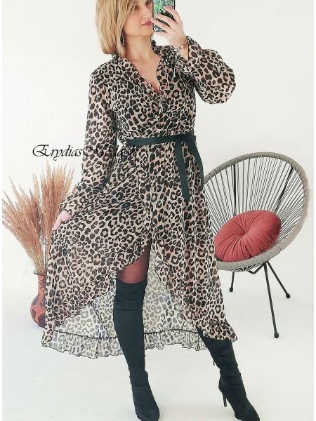 Asymetrické leo šaty Donna 8593
