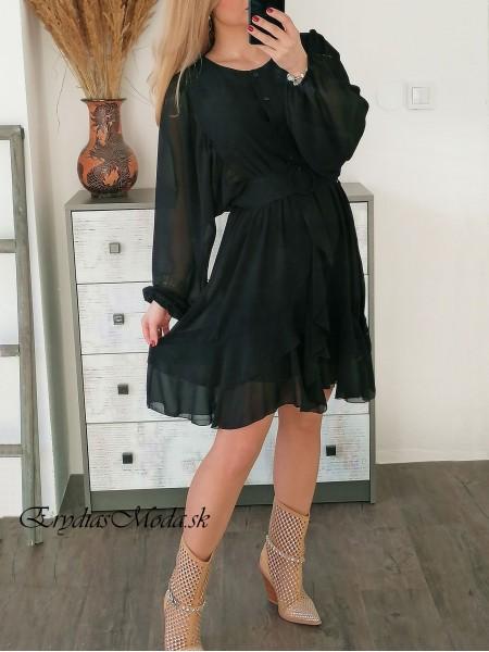 Čierne šaty Gloria S0978