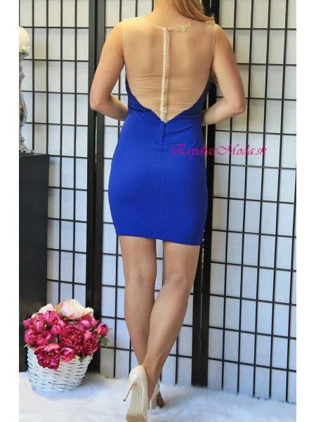 Modré šaty Night Queen 15878