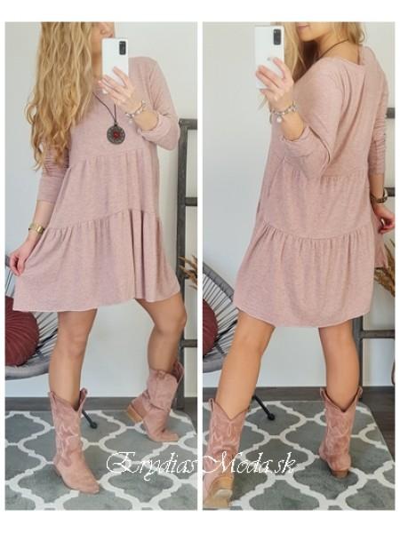 Bavlnené šaty Milagros púdrové 20663
