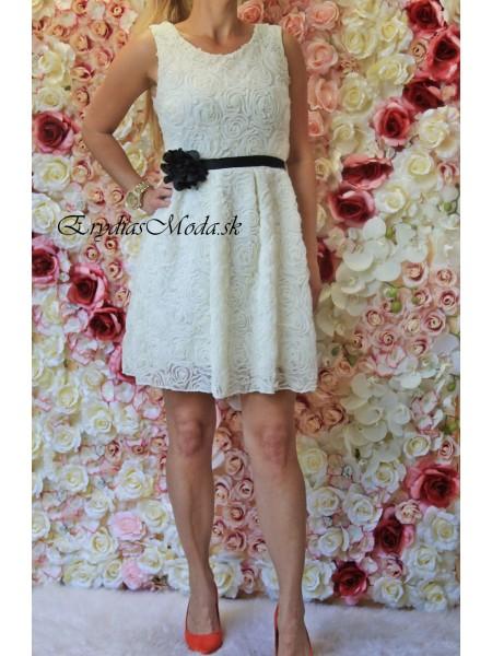 Šaty riasené Lilirose maslové S325-1
