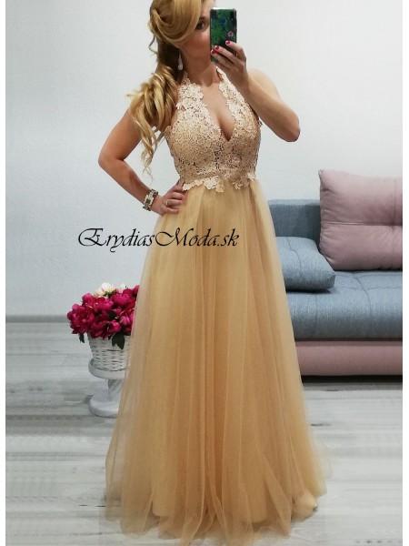 Spoločenské šaty Champagne 7509