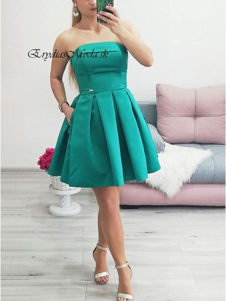 Spoločenské áčkové šaty Holly zelené P332