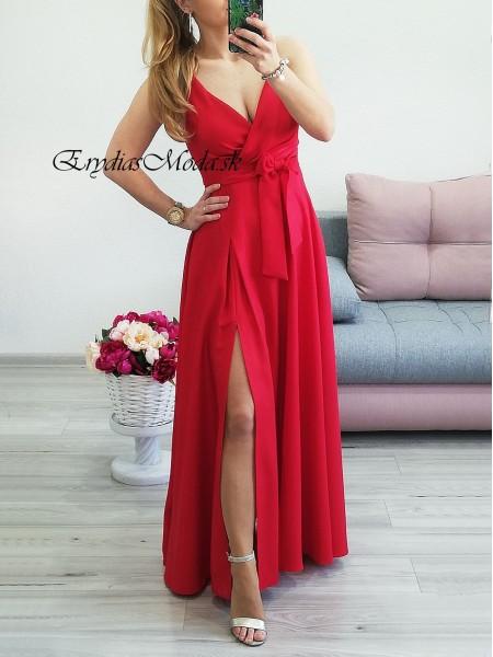 Spoločenské šaty Naomi červené P319