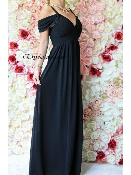 Spoločenské šaty Gloria čierne R1284