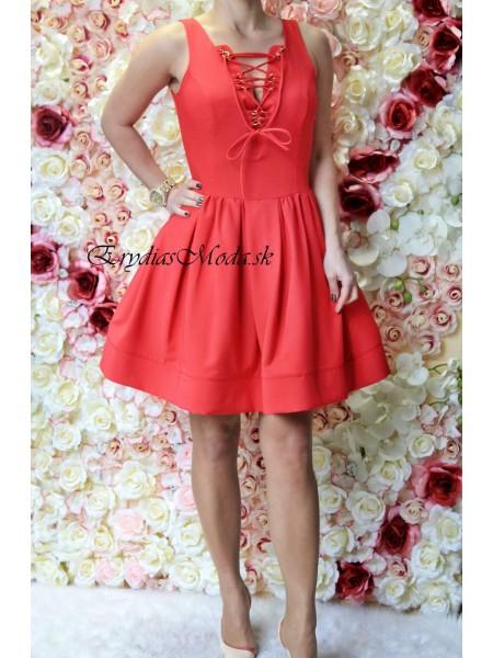 Červené áčkové šaty Marylin KJ513