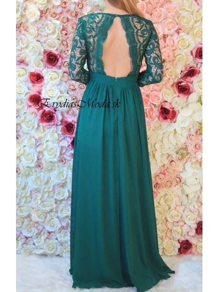 Zelené spoločenské šaty Moly 1288