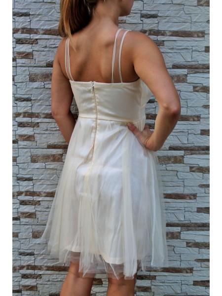 Šaty krémové Burlesque 5271