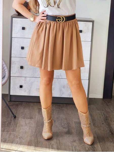 Áčková sukňa Ria hnedá L0005