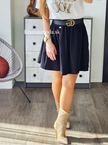 Áčková sukňa Ria čierna L0005