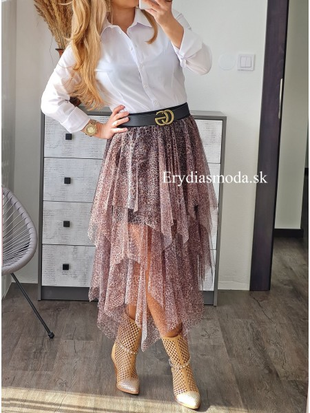 Vzorovaná sukňa cik cak PN40