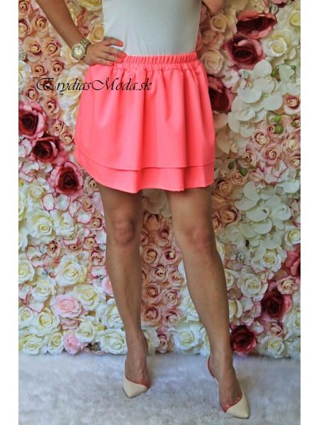 Áčková sukňa volánik ružová 6002