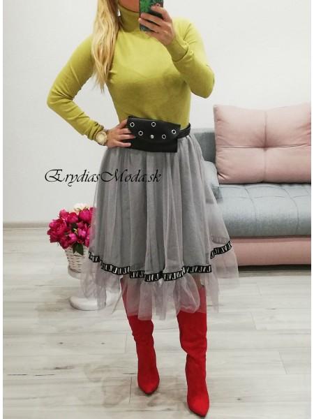 Tylová sukňa LV sivá 1168