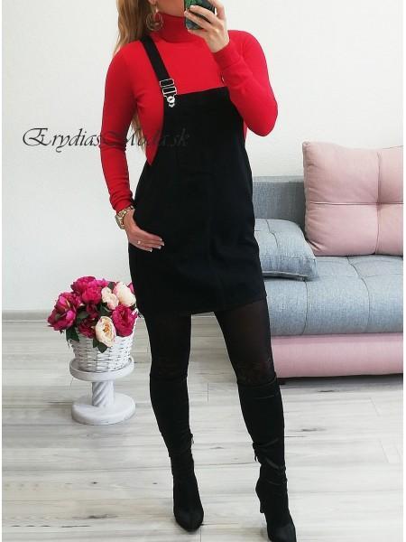 Rifľová sukňa na traky Black CK1832