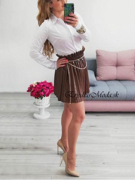 Koženková plisovaná sukňa Hollywood 2285