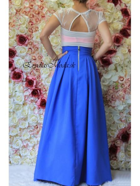 Elegantná maxisukňa Gosh modrá R614