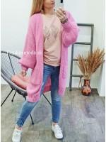 Kardigán pletený ružový Sweetie 3929